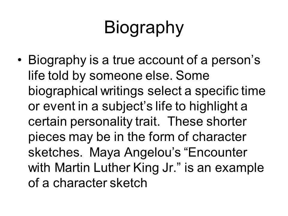 Literary Terms. Autobiography An autobiography is an account of a ...