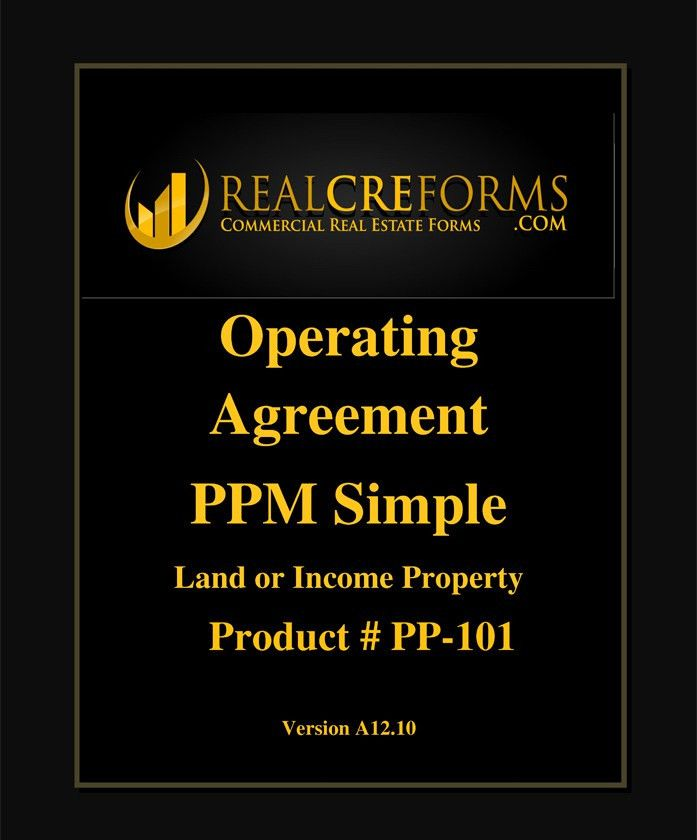 Operating Agreement Simple PPM Land Deal: REALCREFORMS