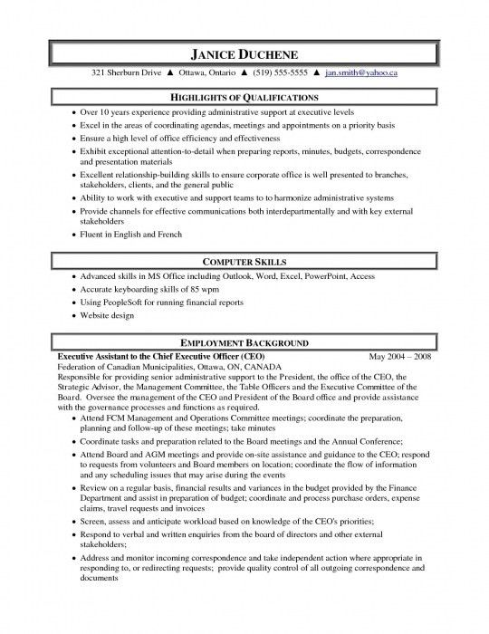 Administrative Assistant Resume Objective Sample. administrative ...