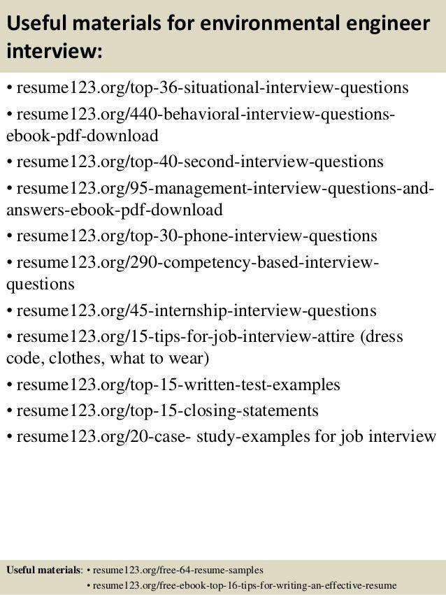 Environmental Engineer Sample Resume 12 Environmental Engineer ...
