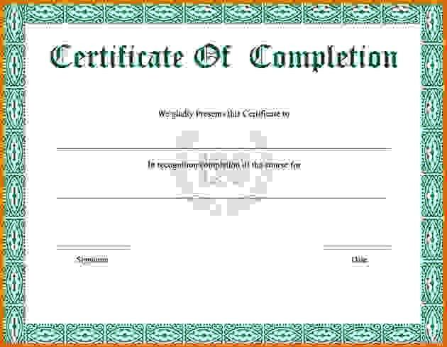 training certificate template free – Free Online Form Templates