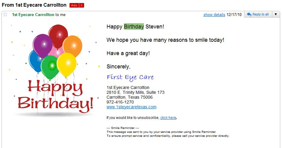 Birthday Email Marketing Campaigns