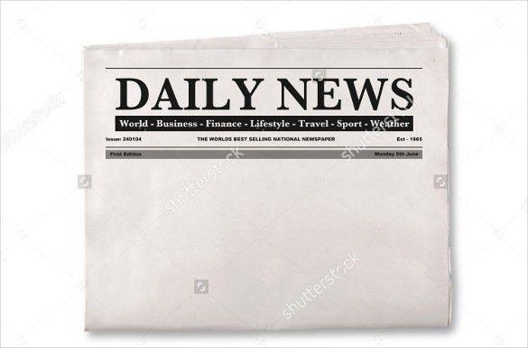 Blank Newspaper Template | the-ceramic-cookware.com