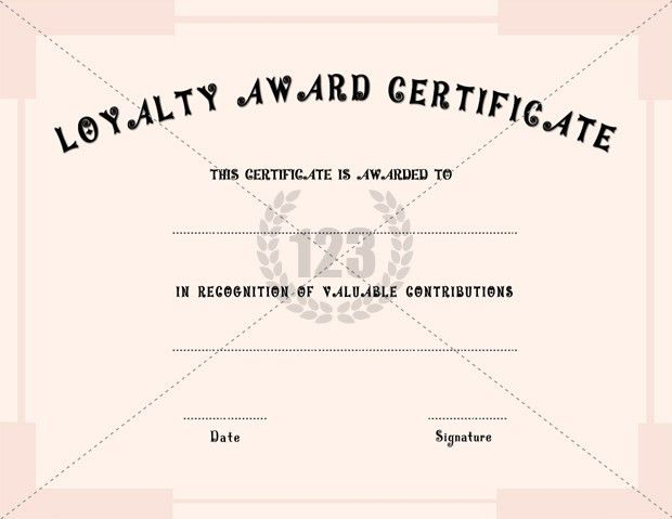 Loyalty Award Certificate Templates | Certificate Templates