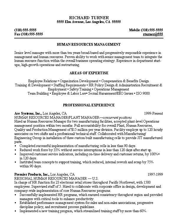 Combination Resume Sample Human Resources Generalist 2017 Resume ...