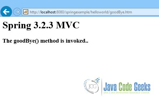 Spring MVC Controller Example   Examples Java Code Geeks - 2017
