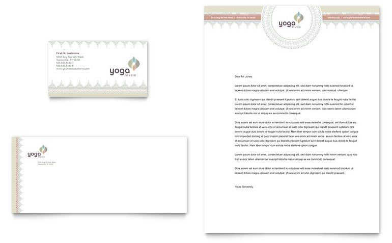 Pilates & Yoga Business Card & Letterhead Template - Word & Publisher