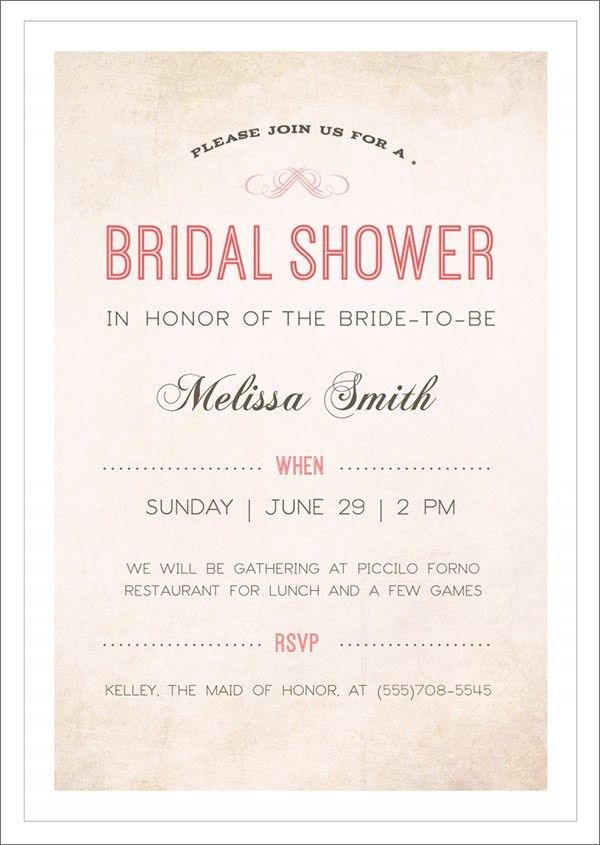 Free Printable Bridal Shower Invitation Templates | bestregrads.net
