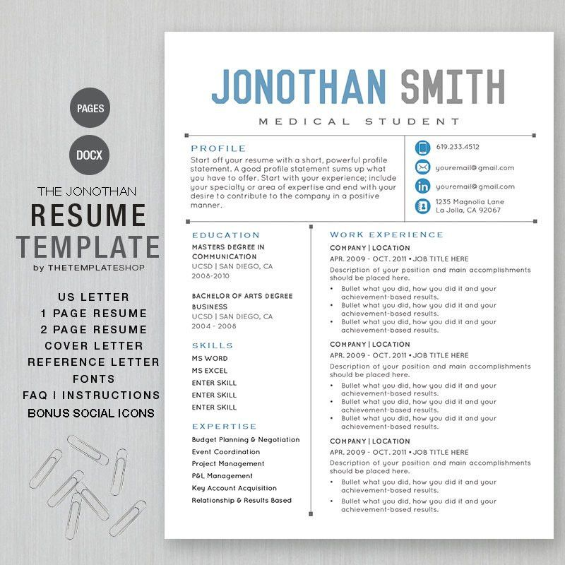 word resume template mac cover letter mac pages resume templates