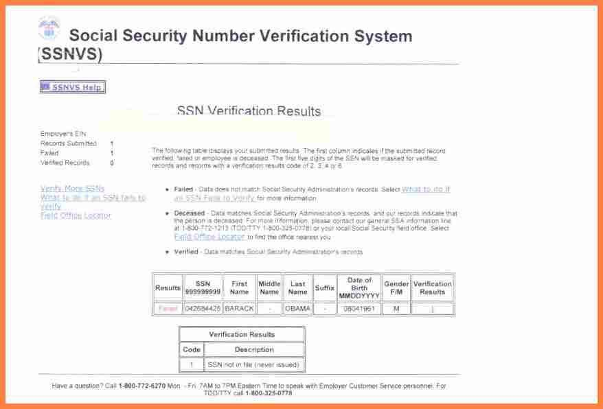 9+ social security number verification letter | Invoice Example 2017