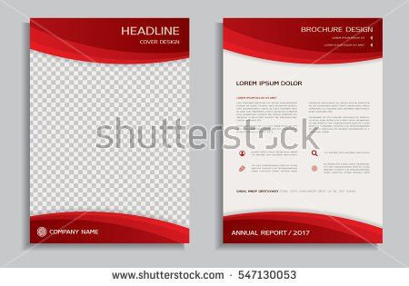 Red Flyer Design Template Brochure Annual Stock Vector 525772465 ...