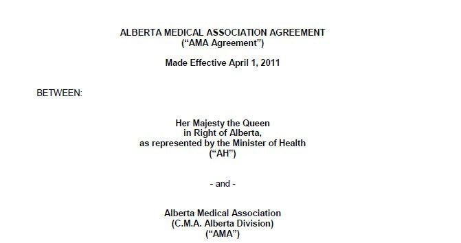 1. Two-party agreement | Alberta Medical Association
