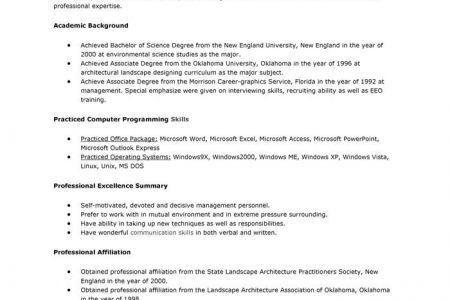 Example Landscape Architect Resume Free Sample, Sample Resume for ...
