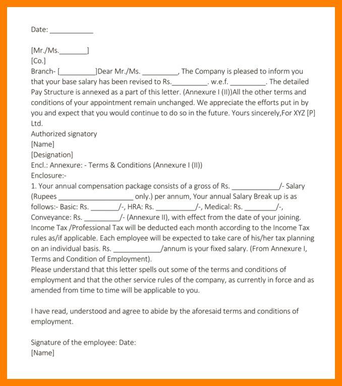 5+ increment letter format | pattern resume