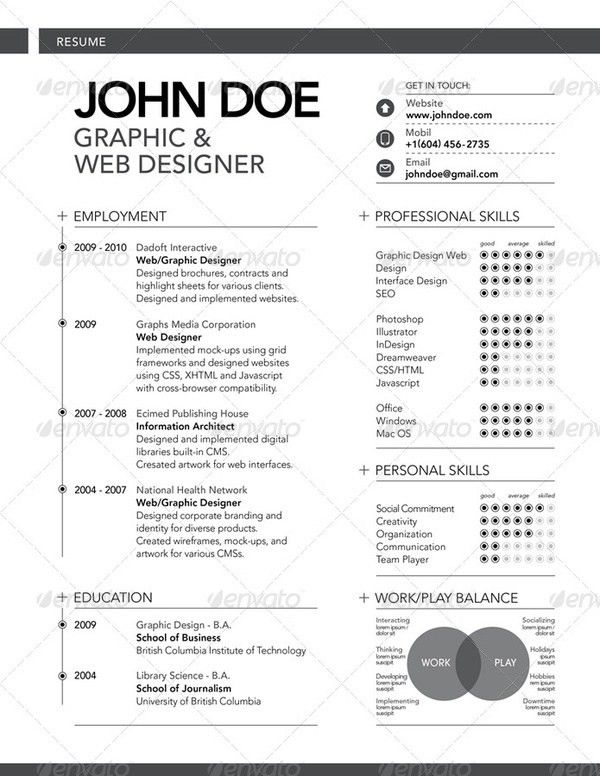 101 best GraphicArt - Layout - Resume images on Pinterest | Resume ...