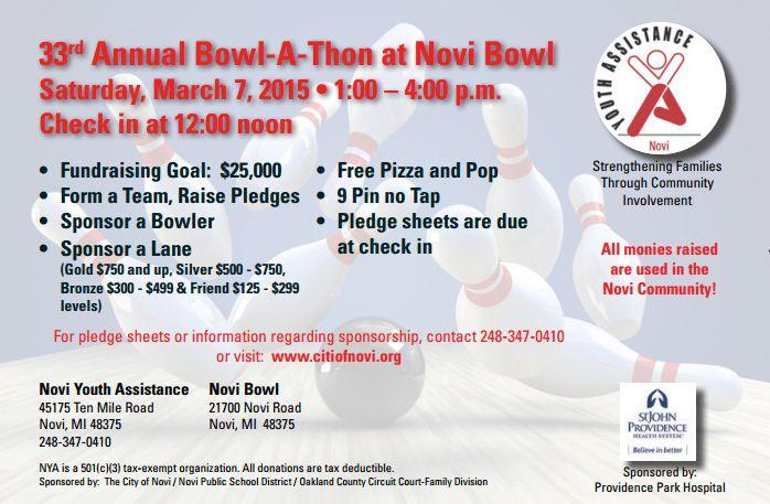 Novi Youth Assistance Fundraising Event At Novi Bowl