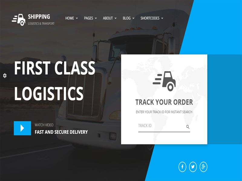 Shipping – transport website free HTML template, it is designed ...