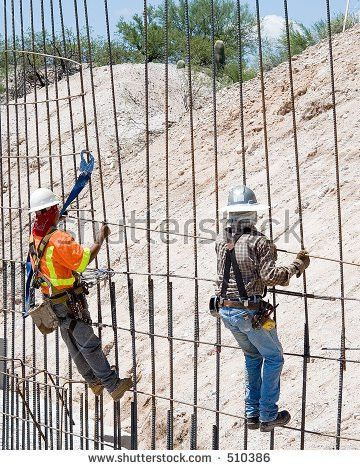 Construction Worker Tying Rebar Concrete Reinforcement Stock Photo ...