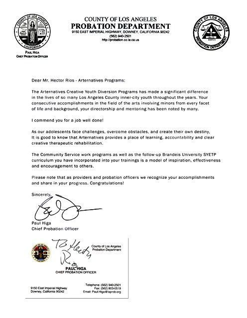 Parole Letter Of Recommendation Samples - Best Template Collection