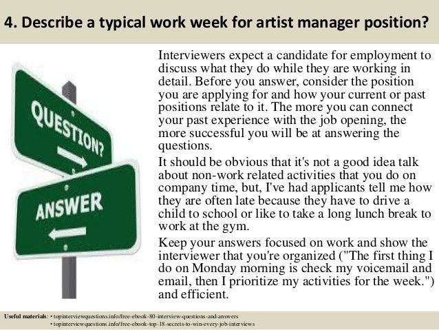 Top 10 artist manager interview questions and answers