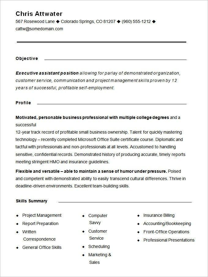Functional Resume Template | | ingyenoltoztetosjatekok.com