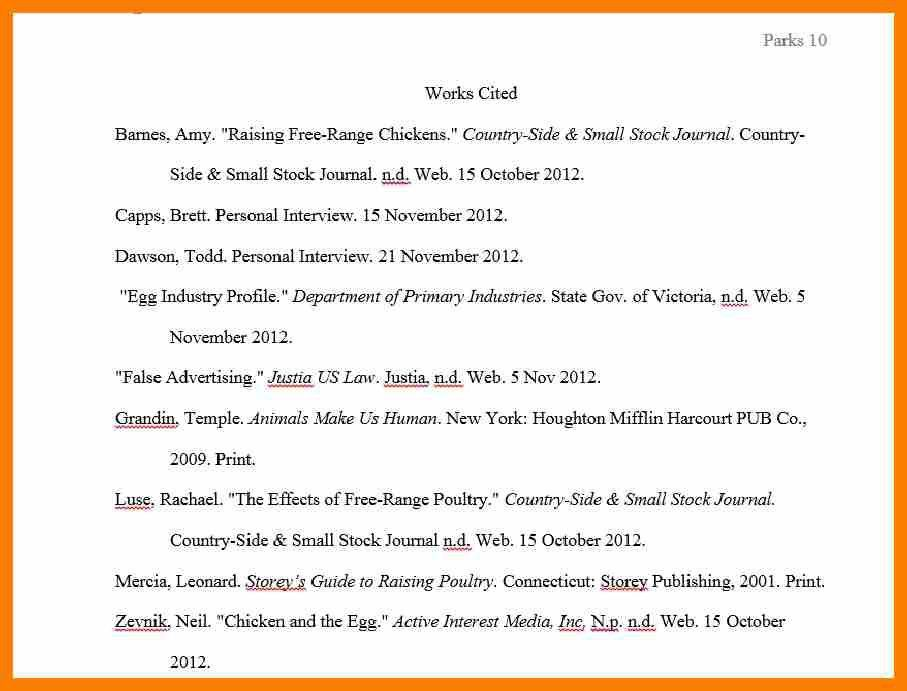 4+ example works cited page | hostess resume
