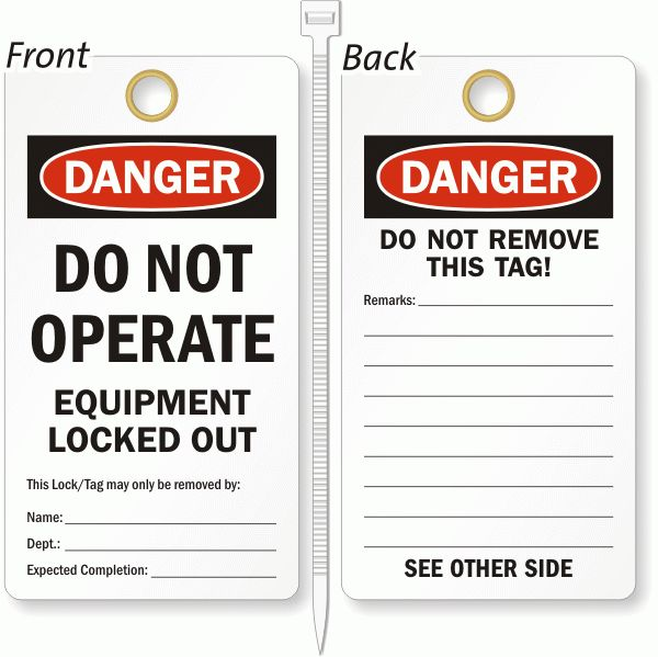 Lockout Tags & Safety Tags | Free Shipping