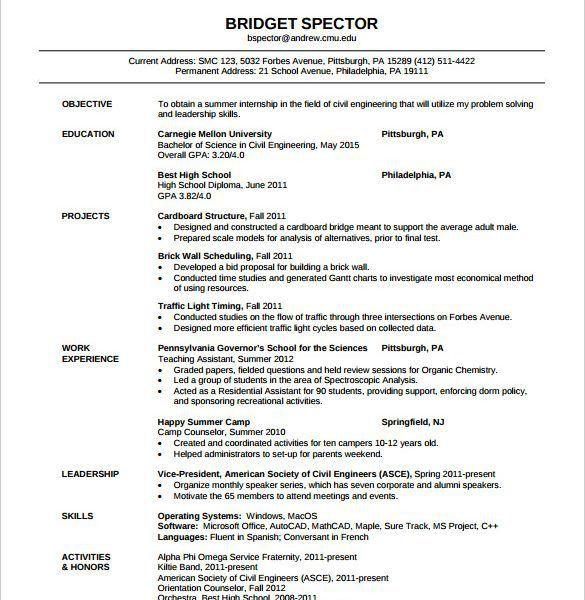 Resume Sample Of Civil Engineer - Resume CV Cover Letter