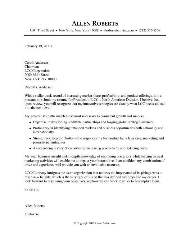 Stylish And Peaceful Sample Cover Letter Format 7 Creating An ...