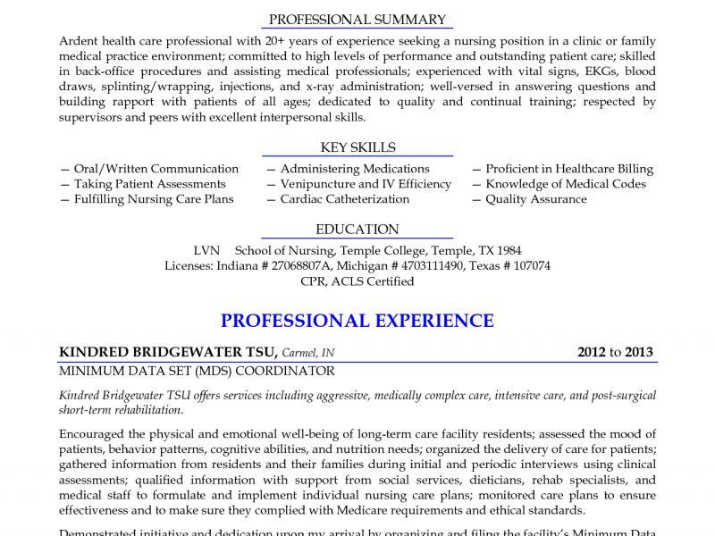 First-Rate Lpn Resume 15 Licensed Practical Nurse Seeking Nursing ...
