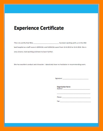 5+ work certificate format | resumes great