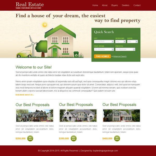 best-real-estate-website-templates-004 | Website Template PSD sale ...