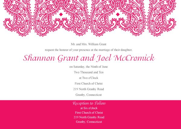 Paisley Wedding Invitation Template Vector | 123Freevectors