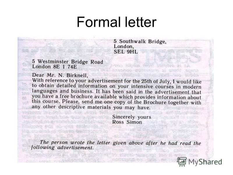 "Презентация на тему: ""Formal letters – Personal letters - Letters ..."