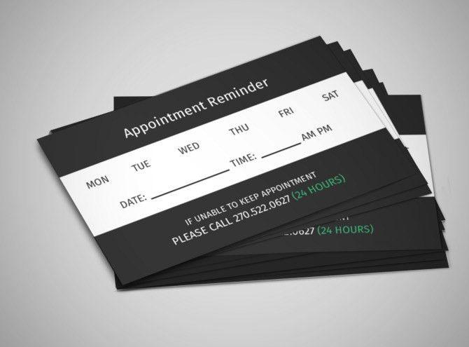 Reminder Card Templates | MyCreativeShop