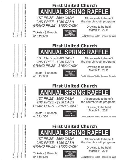 Raffle Ticket Templates - Large Raffle Ticket Templates - 2