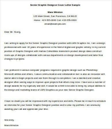 Graphic Design Cover Letter Template | The Letter Sample