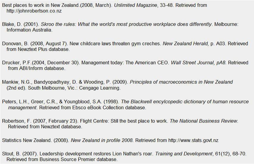 APA Reference Page | APA Format