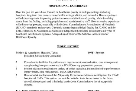 Long-Term Nurse Resume Template - Reentrycorps