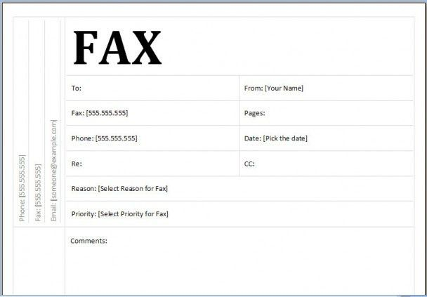 cover letter fax example - Template