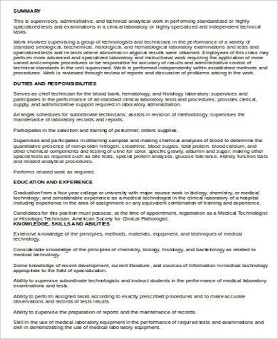 homely inpiration medical technologist resume 13 laboratory ...