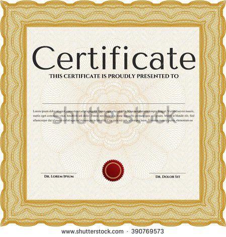 Vector Certificate Template Stock Vector 266779433 - Shutterstock