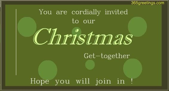Christmas Get-together Invitation card - Post Card From ...