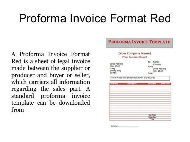 Proforma Invoice Templates - Free Samples