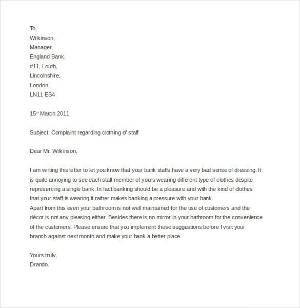 9+ Discrimination Complaint Letter Templates – Free Sample ...