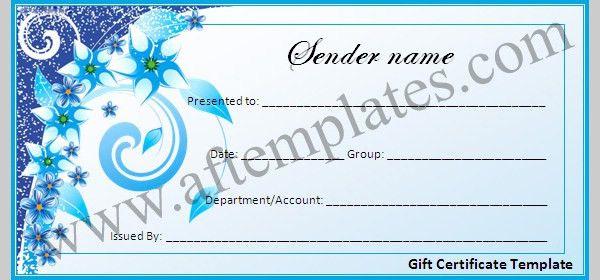 gift certificate samples