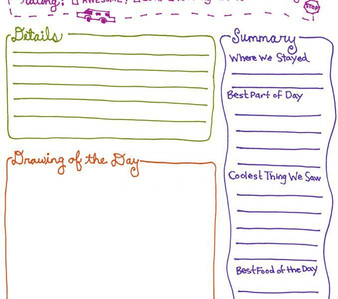 Free Printable Diary : Kids Coloring - europe-travel-guides.com