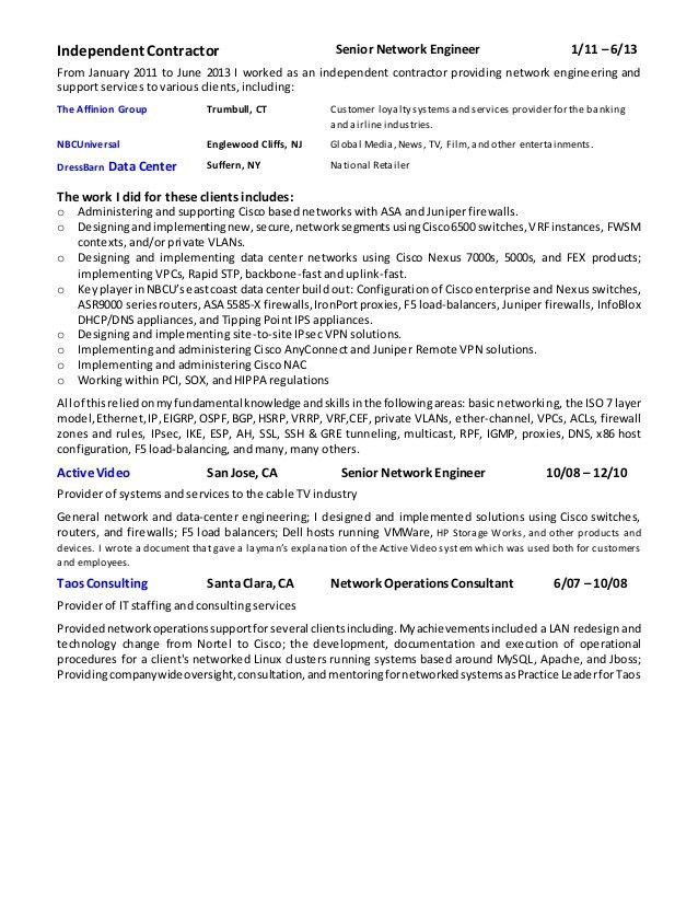 Network Security Analyst - Professional Resume 2016