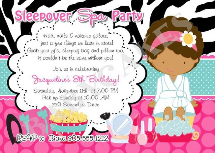 Spa Birthday Party Invitations To Inspire You | THEWHIPPER.COM