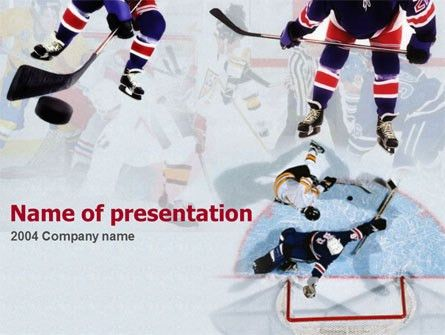 Ice Hockey Players PowerPoint Template, Backgrounds | 00135 ...